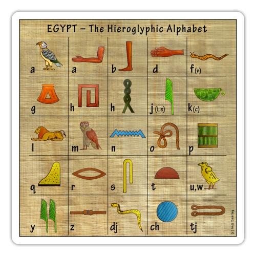 The Hieroglyphic Alphabet - Sticker