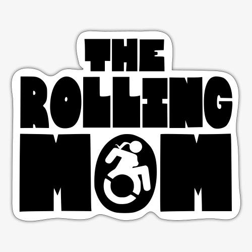 Rollende moeder in een rolstoel - Sticker