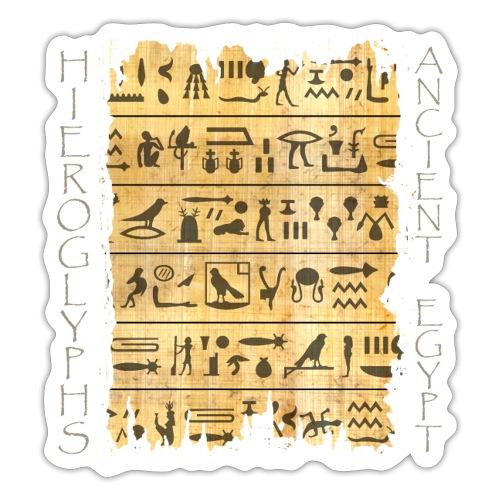 Ausgerissener Papyri mit Hieroglyphen - Sticker