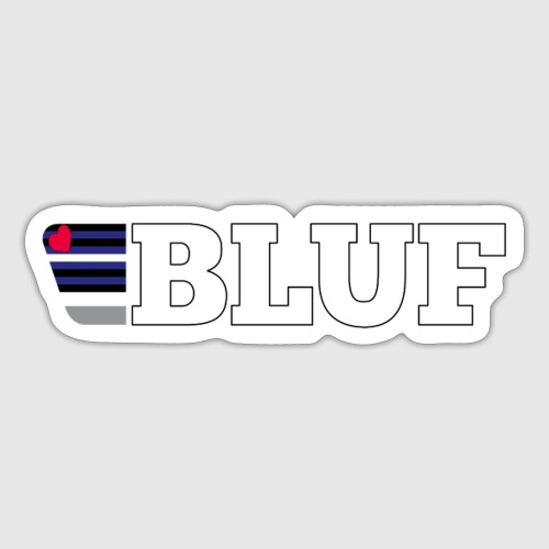 BLUF Leather Pride 2020 - Sticker