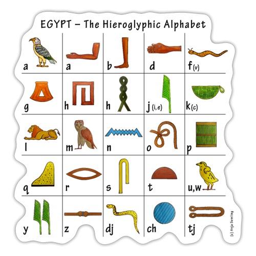 Ägyptisches Alphabet - Sticker