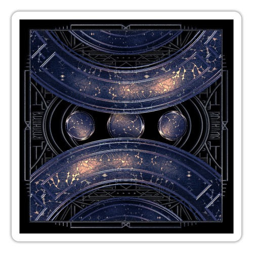 Universe outer space blue outer space galaxy art - Sticker
