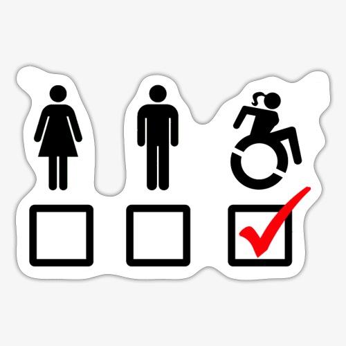 Rolstoel bord, rollers fun, vink rolstoel, humor - Sticker