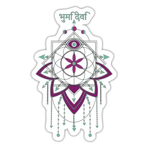 Saat des Lebens Einheit Göttin Mutter Erde - Sticker