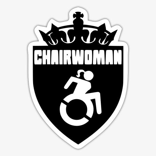 Dame in een rolstoel, vrouw in rolstoel, roller - Sticker