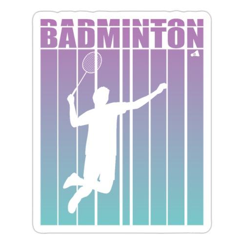 Badminton Jump Smash - Sticker