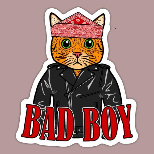 Bad boy chat roux rockeur - Autocollant