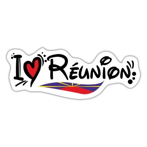 i love Réunion - Autocollant