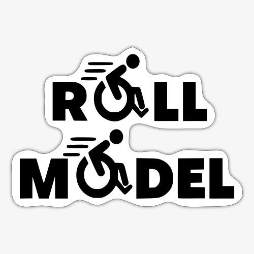Elke rolstoel gebruiker is een roll model - Sticker