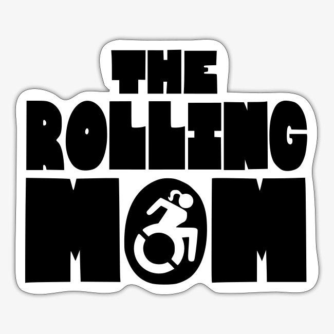 De rollende moeder in een rolstoel
