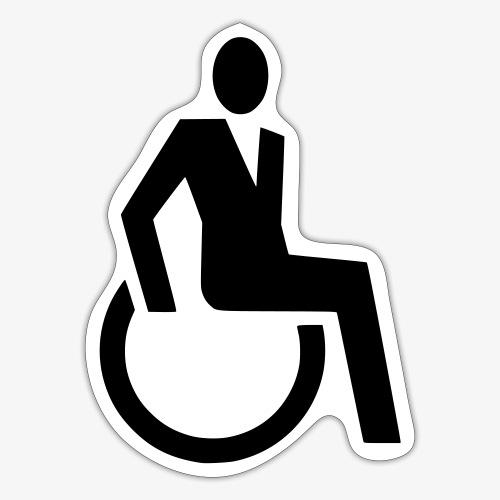 Sjieke rolstoel gebruiker symbool - Sticker