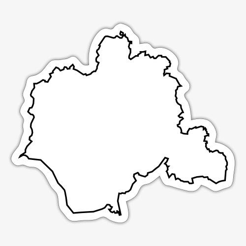 Kontur des Kreises Lippe - Sticker