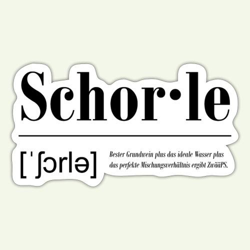 Schorle Lautschrift Serifen - Sticker