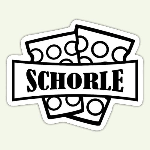Schorle zwei Glaeser Heller - Sticker