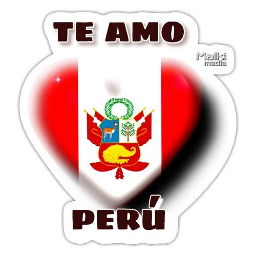 Te Amo Peru Corazon - Autocollant