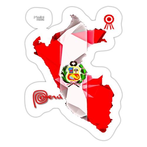 Mapa del Peru, Bandera y Escarapela - Autocollant