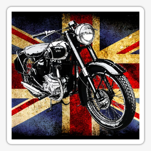 BSA motor cycle vintage by patjila 2020 4 - Sticker