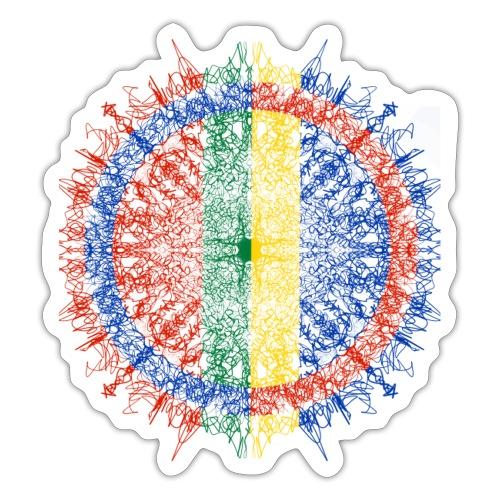 Samisk flagg - Klistremerke