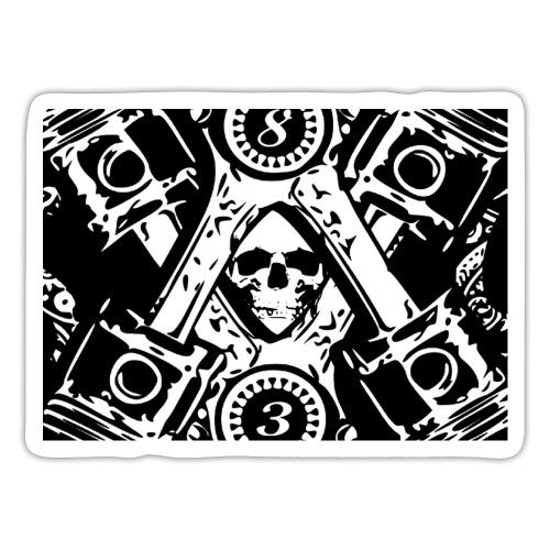masque tète de mort biker - Autocollant
