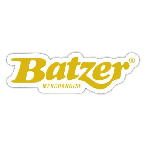 Batzer Logo GEEL - Sticker