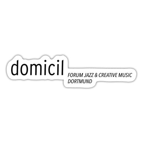 domicil Dortmund schwarz - Sticker