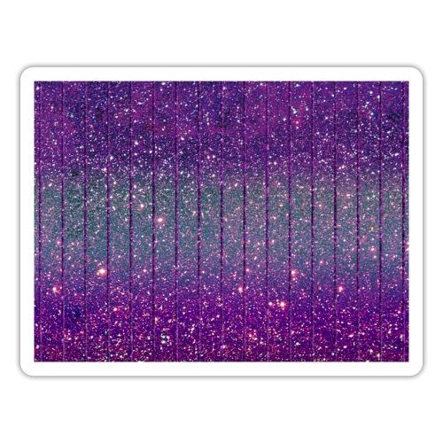 Glitzer Muster Lila Burlesque Glitter - Sticker