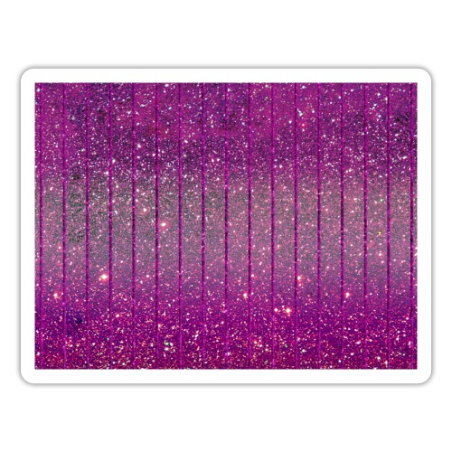 Pink Glitzer funkelnd Rosa Glitter Feenstaub chic - Sticker