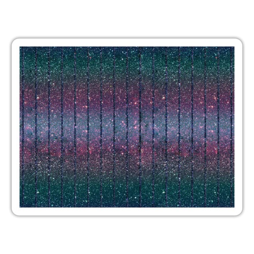 Burlesque drag queen glitter pattern blue purple green - Sticker