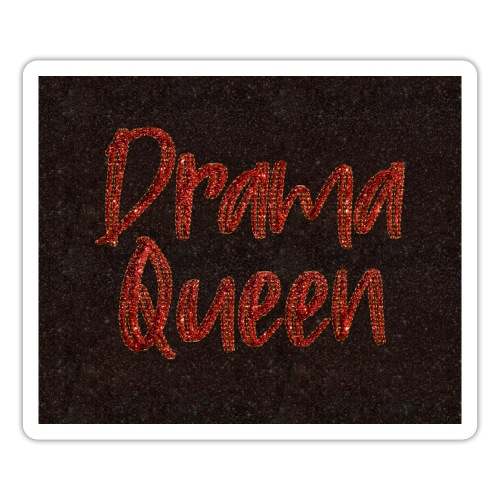 Drama Queen face mask glitter red - Sticker