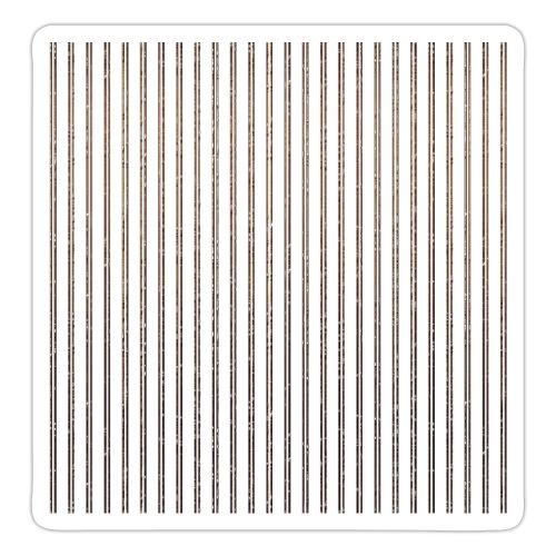 Pinstripe Muster Streifen Muster gestreift weiß - Sticker