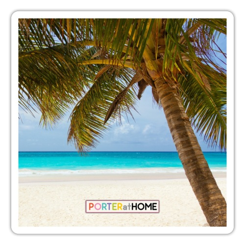 PORTERatHOME Dreaming of Beach Holidays Facemask - Sticker