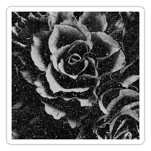 Vintage rose black and white floral mask - Sticker