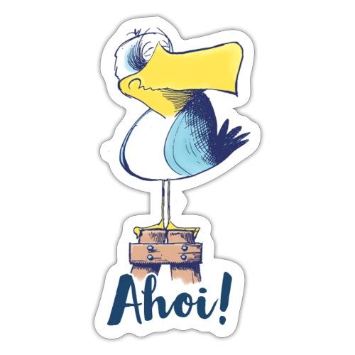 Lustige Ahoi Moewe - Sticker