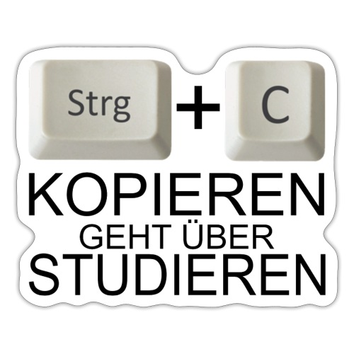 Kopiert - Schwarz - Sticker