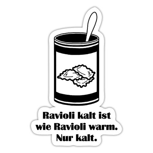 Kalte Ravioli - Schwarz - Sticker