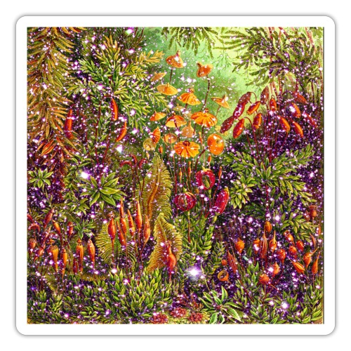 Magic forest flowers meadow fairy tale Fantasia fairy forest - Sticker