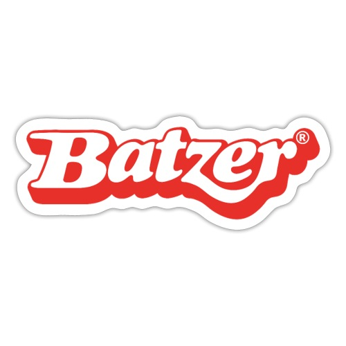 batzer logo rood wit - Sticker