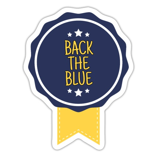 Back the blue - badge - Autocollant