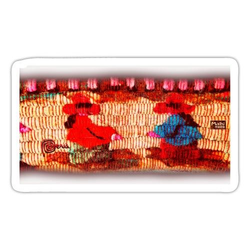 Dos Paisanitas tejiendo telar inca - Sticker
