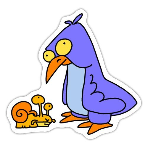Schnecke und Vogel Nr 2 von dodocomics - Sticker