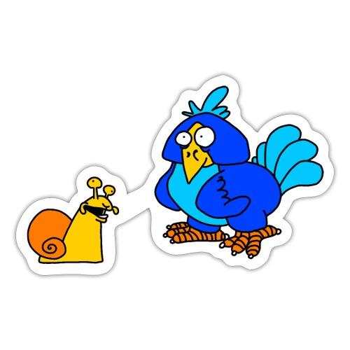 Schnecke und Vogel von dodocomics - Sticker