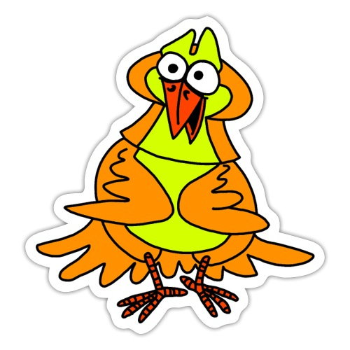 Vogel Nr 3 von dodocomics - Sticker