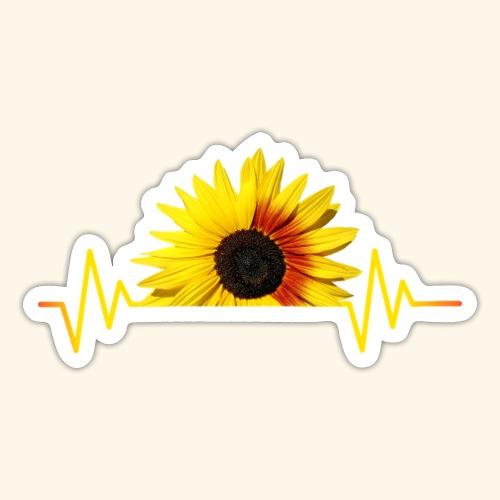 Sonnenblumen, Sonnenblume, Herzschlag, Rhythmus - Sticker