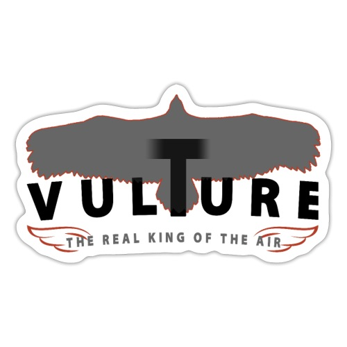 VULTURE - the real King of the Air - Geier - black - Sticker