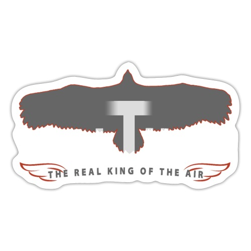 VULTURE - the real king of the air - Geier - white - Sticker