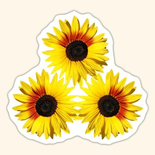 Sonnenblumen gelb, rot, Sonnenblumenfeld, Blumen - Sticker