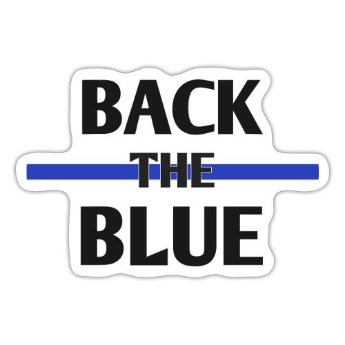 Back the Blue - texte - Autocollant