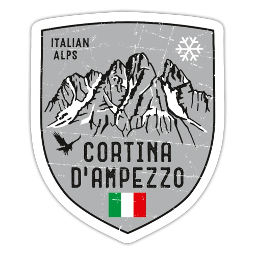Cortina d Ampezzo Italien Wappen - Sticker