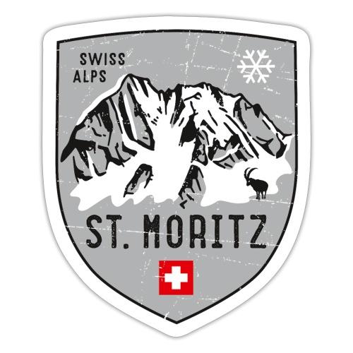 St. Moritz coat of arms - Sticker