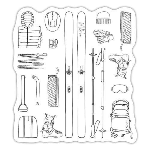 Ski touring - Sticker